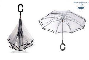 Parapluie transparent à la mode