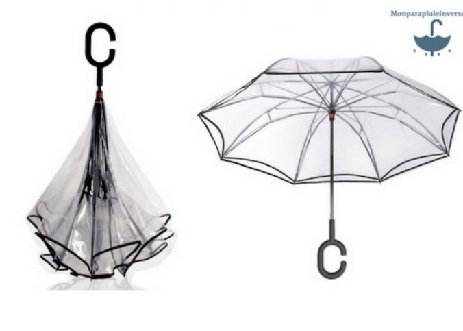 Parapluie transparent à la mode